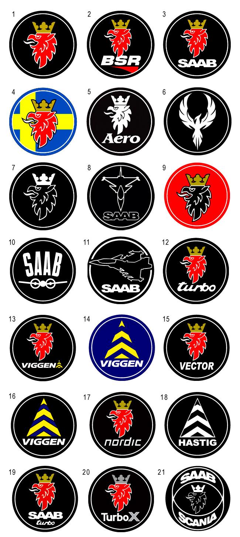 SAAB Vinyl Emblems